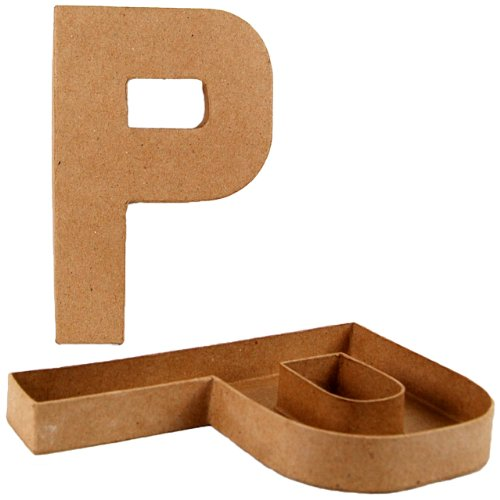 country-love-crafts-825-inch-205cm-letter-p-shaped-box-papier-mache