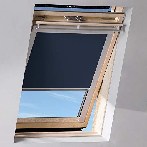 Sol Royal SolReflect D12 Dachfenster Rollo Verdunkelung & Thermo Hitzeschutz für 97x100 cm SK06 Dunkelblau