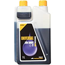 McCulloch 577616402 - Aceite para motores de 2 tiempos de 1,0L                                                        Reducción de las emisiones de humo