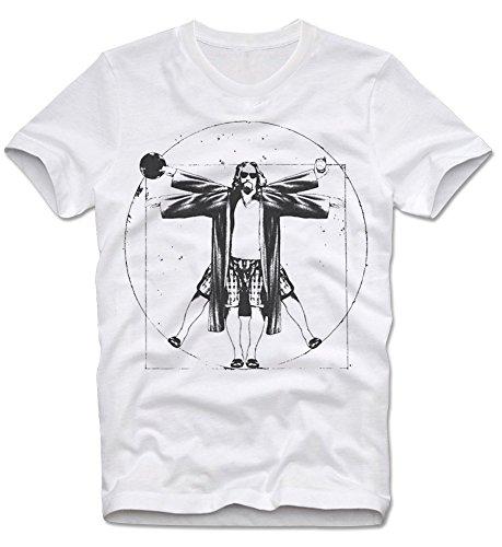 T-Shirt The Dude Big Lebowski Walter Da Vinci Funshirt L (Jesus Lebowski Big)