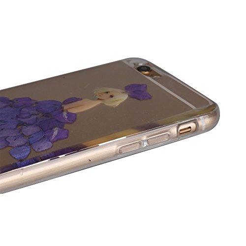 """iPhone 6s Schutzhülle, iPhone 6 Soft TPU Handytasche, CLTPY Modisch Durchsichtige Rückschale im Getrocknete Blumenart, [Stoßdämpfung] & [Kratzfeste] Full Body Case für 4.7"""" Apple iPhone 6/6s + 1 Stylu Floral 34"""