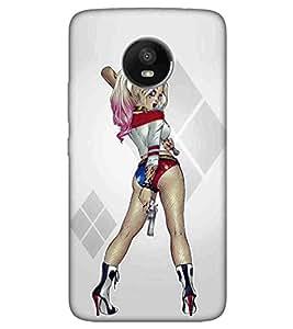 For Motorola Moto E4 cute girl ( cute girl, girl, nice girl, hokey, beautiful girl ) Printed Designer Back Case Cover By TAKKLOO