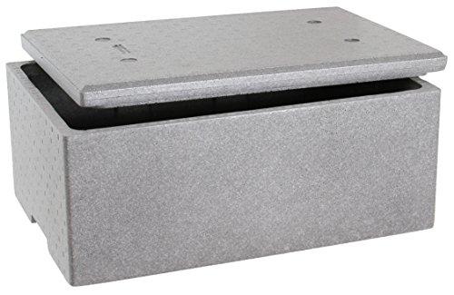 Neopor Thermo Styroporbox 60x40x26cm mit Deckel ca. 39 Liter