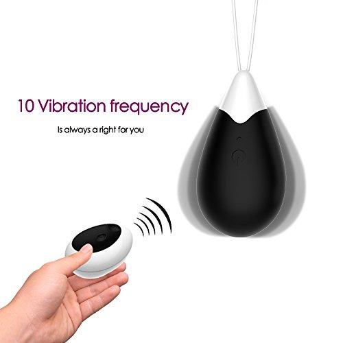 Vibrierende Ei Bullet Vibratoren Liebeskugeln 10 Modes USB wiederaufladbare Silikon Vibrator Kegel Ball Übung Sexspielzeug für Frauen Kabellos Fernbedienung wasserdicht Schwarz