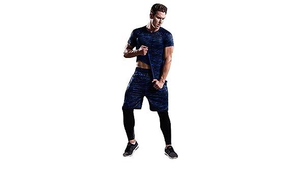 Fitness Palestra Completi Sportivi Uomo Abbigliamento Sportivo Compressione Calzamaglia Baselayer Pantaloni Leggings Set Uomo Fitness Sport Palestra Esecuzione Yoga Pantaloni Sportivi Abito Camicia