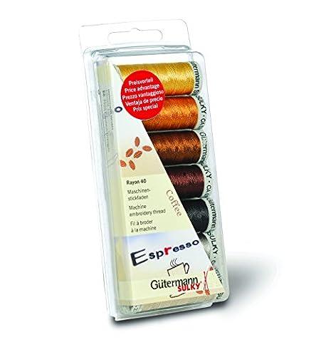 Gutermann 100 Percent Viscose Rayon 40 Machine Embroidery Thread Set,