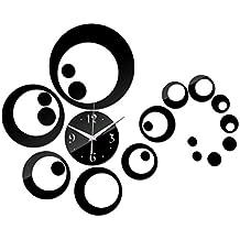 URAQT - El Reloj Digital DIY de Acrílico de Pared del Estilo Moderno y Hermoso - Decoración silenciosa - Negro
