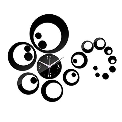 Uraqt 3d fai da te orologio da parete, rimovibile adesivi murales