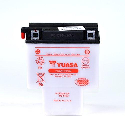 Batteria da 12V 16AH HYB16A da acido piombo Yuasa 51622senza acido Pack Honda VT 1100C Shadow sc23C2Ace SC32C3Aero SC39