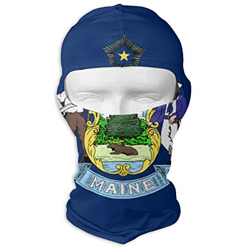 Vidmkeo Maine State Flag Ski Mask Sun UV Protection Dust Protection Wind-Resistant Face Mask for Running Cycling Fishing Unisex4 -