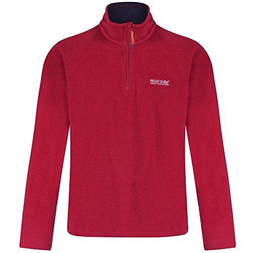 Regatta Mens Thompson Half Zip Lightweight Fleece Midlayer Top (Gebürstetes Fleece-shirt)