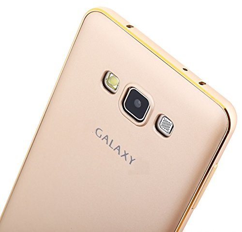 Kapa Luxury Metal Bumper + PC Back Fusion Case Cover for Samsung Galaxy J7 - Gold