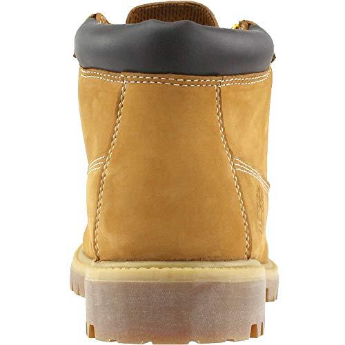 Timberland Mens Icon Waterproof Chukka Wheat Nubuck with Chocolate All Leather 7M