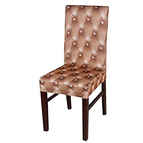 Yunhigh 4PCS Stretchy Dining Chair Slipcovers Removable Chair Protective Covers for Dining Room Hotel Banquet - Champagne
