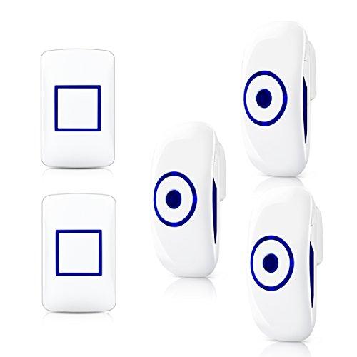 Besmall campanello senza fili, suoneria citofono impermeabile elettrico kit pulsantiera senza fili fino a 300m 36 campane - 4 livelli di volume regolabili (2+3)