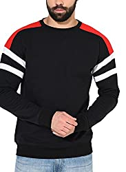 Gritstones Black/Red/White Full Sleeve Round Neck Sweatshirt GSSWTSHT1630BLKRDWHT_M