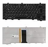 Laptoptaste_de Original Deutsch QWERTZ Tastatur mit Hintergrundbeleuchtung/Beleuchtet Dell Alienware M15X Area 51 + Service-Werkzeugsatz