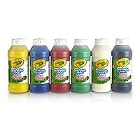 Crayola 3926 Washable Ready-mix Paint Pack of 6 Bottles