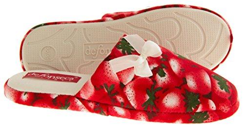 Da donna Mule pantofole Rosso (Red (Strawberry))