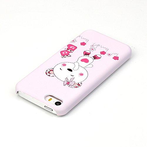 Meet de Coque Rigide Coquille Housse pour Apple iPhone 6 Plus / 6S Plus (5,5 Zoll) Case Cover Shell Coque Arrière Housse - Daisy Schmetterling Ours Rire