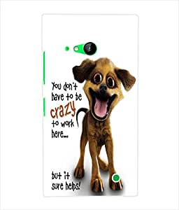 Fuson 3D Printed Funny Cartoon Wallpaper Designer Back Case Cover for Nokia Lumia 730 - D825