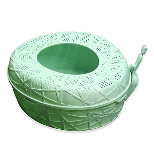 MTCWD Katzentoilette/Haustier Katze Wurf Tablett Toilette Box/Oben Eingang Müll Box/Katze Toilette Schwenken Box/Hat EIN Oben Öffnung (Color : Green, Size : 60 * 50 * 25cm) (Hats Top Farbige)