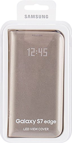 Samsung LED View Cover - Funda para Samsung Galaxy S7 Edge, color Dorado