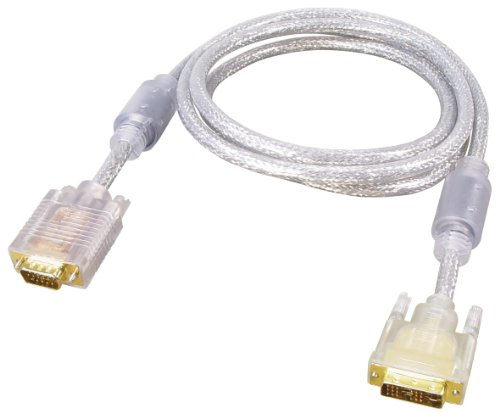All4u BC 57-5 DD DVI-Kabel (DVI-Stecker 18+5 polig - Sub D-Stecker 15 polig HD, Single Link, 3x Koax/RGB) 5 m transparent (Single 15 Sub-box)