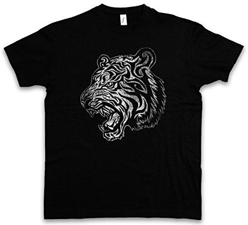 Urban Backwoods Tribal Tiger II T-Shirt - Taglie S - 5XL Nero