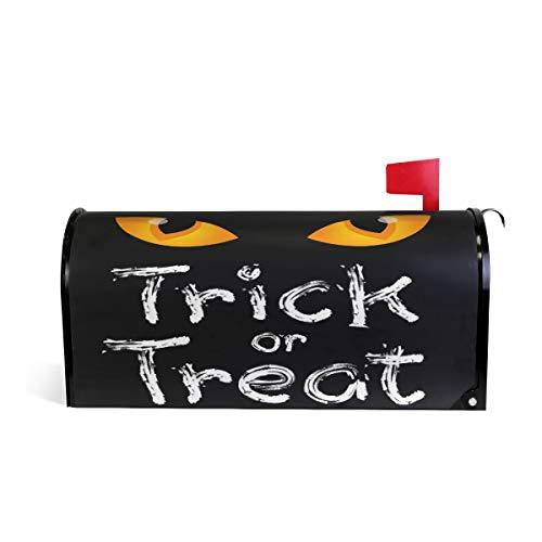 Alaza(mailbox cover) WOOR Trick or Treat Halloween Briefkastenabdeckung, magnetisch, Standardgröße, 45,7 x 52,1 cm 25.5x20.8 inch Oversized Multi