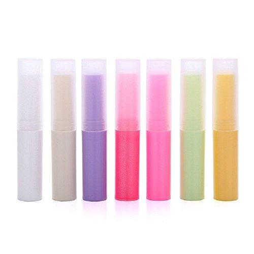 Lippenbalsam-Container-Röhrchen - 35 Stück Kunststoff leere Lippenbalsam Rohre Make-up DIY-Behälter mit Deckel für Buntstift Lippenstift, Chapstick, Hausgemachte Lippenbalsam (4ml, 7colors)