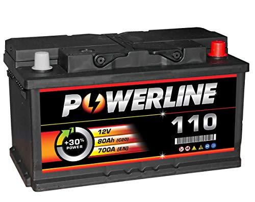 110 Powerline Autobatterie 12V 80Ah