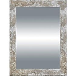 Arte Regal Import 33277 - Espejo de madera, 50 x 70 cm, color plateado