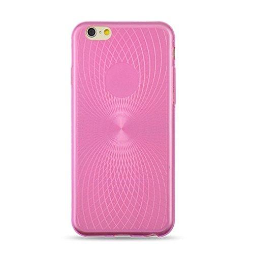 Phone case & Hülle Für iPhone 6 / 6s, 0.3mm Ultradünnes Auge des Sun-Korn-transparenten TPU Falles ( Color : Magenta ) Magenta