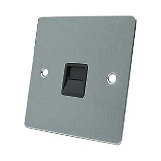 AET FSCTELSBL Flachsteckdose für Telefon/Slave BT mit schwarzem Einsatz