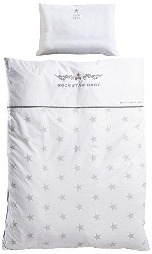roba Bettwäsche 2-tlg, Kollektion 'Rock Star Baby 2', Kinderbettwäsche 100x135 cm, 100% Baumwolle, Decken-& Kissenbezug für Babys & Kinder (Marken-bettwäsche-set)
