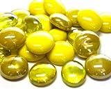 Glas Mosaik Fliesen Nuggets gelb mix abgerundet Gems