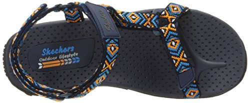 Skechers Women's Reggae Misty Morning Sandal Navy/Blue/Or