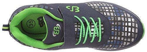 Bruetting  Print VS, Chaussures de course pour garçon Bleu - Blau (Grau/grün)