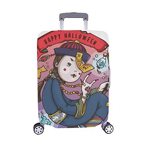 Kostüm Cartoon Zombie - (Nur abdecken) Niedlichen Cartoon Zombies Muster Staubschutz Trolley Protector case Reisegepäck Beschützer Koffer Abdeckung 28,5 X 20,5 Zoll