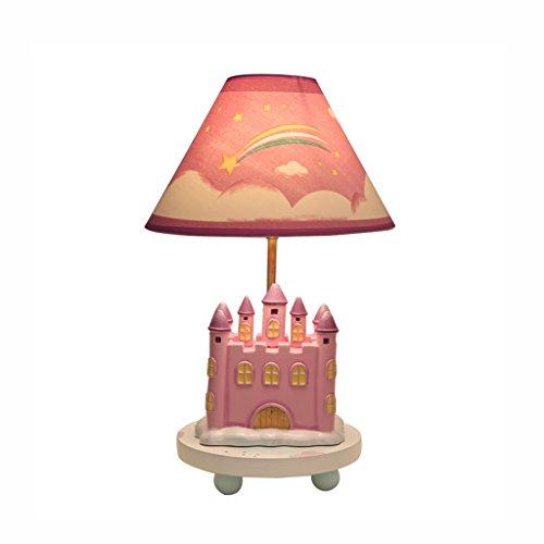 chleuchte- Warme und schöne Mädchen Rosa Cartoon Schreibtischlampe Prinzessin Castle Tischlampe Kinder Schlafzimmer Nachttischlampen Dekorative Lichter (Rabatt Wohnkultur Stoff)
