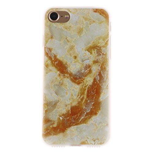 iPhone 7 Hülle, Voguecase Silikon Schutzhülle / Case / Cover / Hülle / TPU Gel Skin für Apple iPhone 7/iPhone 8 4.7(Lace Teppich 06) + Gratis Universal Eingabestift Gelber Marmor 01