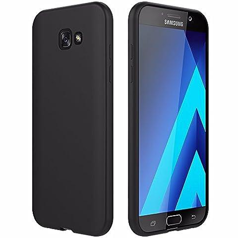 EasyAcc Galaxy A3 2017 Hülle Case, Schwarz TPU Telefonhülle Matte Oberfläche Handyhülle Schutzhülle Schmaler Telefonschutz für das Samsung Galaxy A3 2017 A320