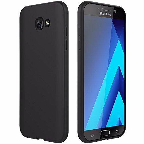 Defender Case Schwarz (EasyAcc Samsung Galaxy A5 2017 Hülle Case, Schwarz TPU Telefonhülle Matte Oberfläche Handyhülle Schutzhülle Schmaler Telefonschutz für das Samsung Galaxy A5 2017 A520 5.2'')