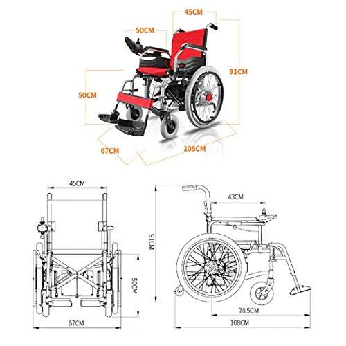 41L28V%2Bo6oL - MJY Batería de litio Silla de ruedas eléctrica Plegable Ligero Portátil Doble uso Pequeño Compacto Silla de ruedas ultraligera fgj