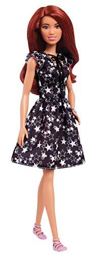 Barbie FJF39 Fashionista Puppe im schwarz-weißen Sternchen ()