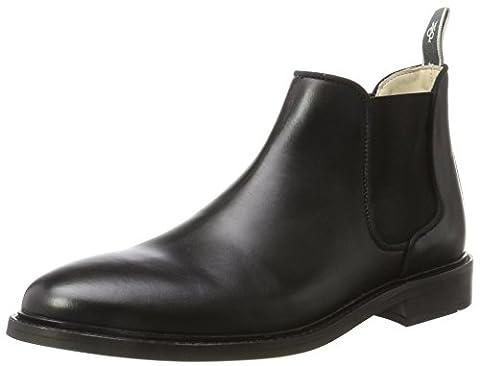 Marc O'Polo Flat Heel 70823775001106, Chelsea Boots Homme, Schwarz (Black), 46 EU