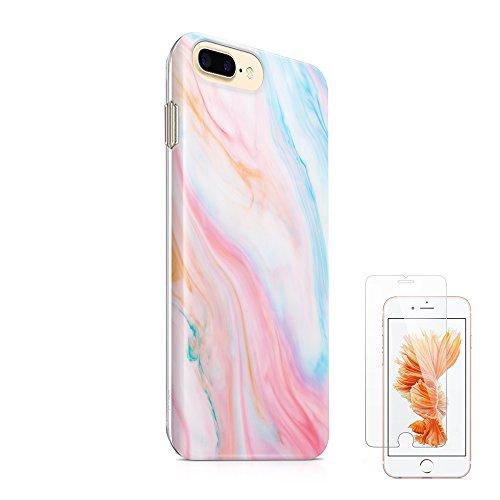 ucolor iPhone 66S Fall Pastell Slim Flexible Weich TPU Schutz Haut Schutzhülle für iPhone 66s- [Slim gehärtetem Glas Displayschutzfolie] (Seite Plus-iphone 6-sim-karte)