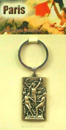 Souvenirs de France - Porte-Clé 'La Danse' de Carpeaux - Matériau : Laiton Antique - Taille 2 : 4,8 x 2,8 cm