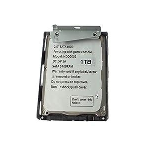 OSTENT 1000GB 1 TB HDD Festplatte + Halterung kompatibel für Sony PS3 Super Slim CECH-4X